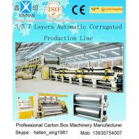 Quality 100 Pieces / Min 5 Layer Corrugated Cardboard Production Line 1800mm Width wholesale