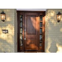 China Contemporary Main Solid Wood Doors Customized Color Entry Door on sale