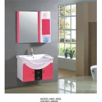 Quality 80 X47/cm hanging cabinet / PVC bathroom cabinet / wall cabinet  / white color for sanitary ware wholesale