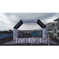 Cheap customize 20 feet angle start/finish inflatable arch with free air blower for races and events for sale
