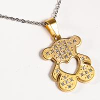 Quality 316 Stainless Steel 18K Gold Plated Pendants , Heart Shaped Pendant For Girl wholesale