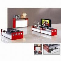 Quality TV stand with MDF and red high glossy painting wholesale