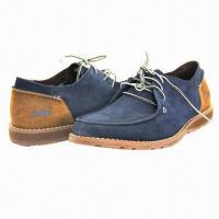 Quality Men's Leisure Casual Shoes with Suede Upper, Lace-up Closure, High Quality wholesale