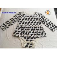 Quality Long Sleeve Newborn Baby Outfits 100% Cotton Rabbit AOP Baby Romper For Fall / Winter wholesale