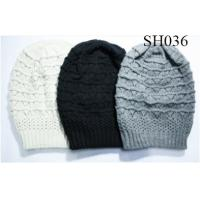 Quality woman cable oversize beanie good style and high quality SH036 adults acrylic hats wholesale