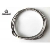China Thermocouple Type J Extension Compansation cable Fiberglass SS304 Sheath 24AWG on sale