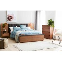 Quality Hotel Room Furniture Luxurious Fabric Upholstered Headboard Storage with Foot Box and Nighstand in Guestroom sets wholesale