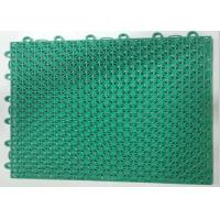 Buy cheap 10Mm Thick Green Facilities Sports Interlock Mi Word Assembling Floor For Fitness product
