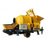 Quality Cement machinery electric engine lightweight foam mobile portable concrete mixer and pump wholesale