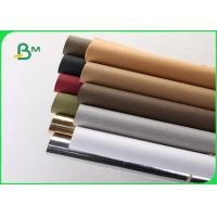 Quality Washed Kraft Liner Paper / Hand - Washed Kraft Paper 150cm X 110 M For Wallets wholesale