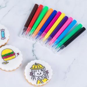 Quality Kids Fun DIY Cookies Fine Point Edible Marker Pen Mini Size 9 Colors wholesale