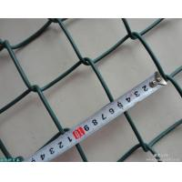 China Black Aluminum Industrial Chain Link Fence Vinyl Coated With Diamond Fence on sale