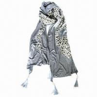 China Scarves in Classical Leopard Design, Made of 65% Polyester/35% Cotton, Measures: 180 on sale