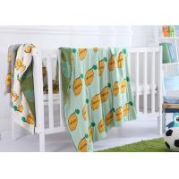 China Customized Jacquard Kids Organic Cotton Knitted Blanket for Home on sale