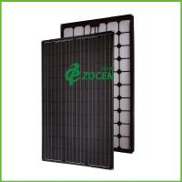 Quality 240W All Black Sroof Mounted Solar Panels PV Solar Module 1640*992*40mm wholesale