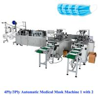 China 3Ply/4Ply Automatic Medical Mask Machine 1with 2,  sales@aoyocommerce.com, Whatsapp 008613530008369 on sale