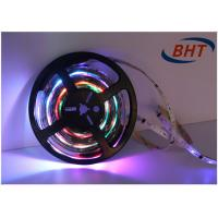 Quality Single Row RGB 5050 Full Color Led Strip , Changeable Led Light Strips White Interval wholesale
