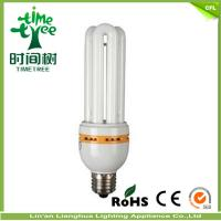 High Efficiency 3u 15watt U Shaped Fluorescent Light Bulbs