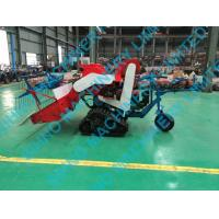 Quality 4L-0.7 paddy rice wheat combine harvester 10kw diesel engine with crawler wholesale