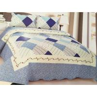 Quality Comfotable Quilt Bedding Set , Cotton Comforter Sets Border In Wave Or Straight wholesale