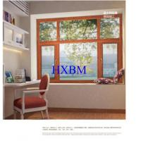 Quality Contemporary Home Aluminium And Wood Windows , 5mm Glass Double Glazed Windows wholesale