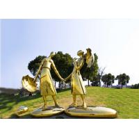 Quality Modern Abstract Metal Sculpture , Mirror Polished Large Metal Lawn Sculptures wholesale