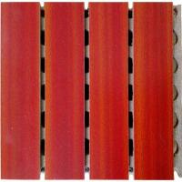 China Prefabricated Concrete Wooden Grooved Acoustic Panel Interior Grooved Partition Wall Panels on sale