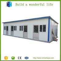 China eps cement sandwich panel steel framed prefab house wooden bungalow on sale