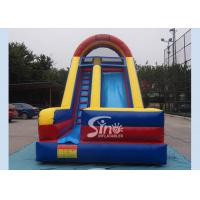 Quality Guangzhou commercial dark blue single lane inflatable slide with lead free material wholesale