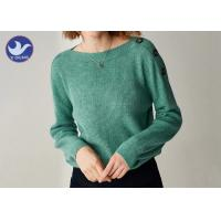 Quality Buttons On Shoulder Womens Knit Pullover Sweater Boat Neck Pass Social Audit Sweater Factory wholesale