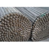 Quality SS304 316 316L Spiral Wire Metal Mesh Belt High Temperature Resistance wholesale