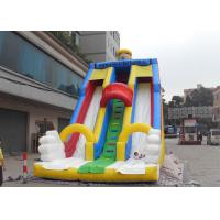 Quality White / Red / Yellow Giant Commercial Inflatable Water Slides , Inflatable Slides For Adult wholesale