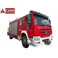 Quality 1300 Gallons Water Tower Fire Truck , Fire Service Truck 500 Gallons Foam Cost Effective wholesale