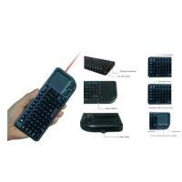 Quality Supply 2.4Ghz RF Mini wireless keyboard with mouse,laser,multi-touch pad wholesale