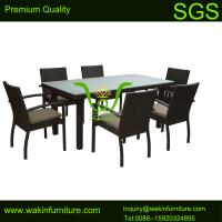 China 6-seat Rattan Garden Table and Chairs on sale