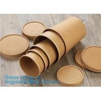 China Disposable kraft paper soup cup_Double wall disposable hot coffee kraft paper soup cup_Easy Take away cups lid spoon on sale