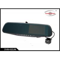 Quality LCD Screen Dual Lens DVR Car Mirror Monitor Double Camera Support G-Sensor Cycle Recording Motion Detection wholesale