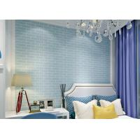 Cheap blue pre pasted self adhesive wallpaper non woven for Pre adhesive wallpaper