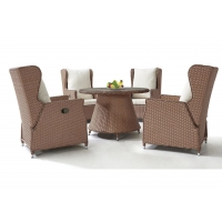 Quality Waterproof Rattan Wicker Outdoor Table Chairs Dining Garden Set wholesale