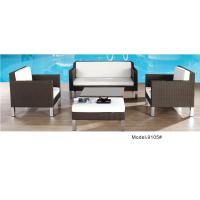 Quality 4piece -wicker Rattan garden Outdoor Patio  loveseat club chair Sofa Set furniture  -9105 wholesale