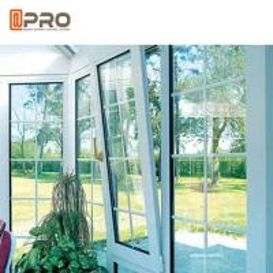 Quality Horizontal Opening Pattern Tilt And Turn Aluminium Windows , Wooden Double Glazed Window wholesale