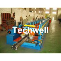 Quality 2.0-3.0mm Heavy Duty Upright Racking / Shelf Roll Forming Machine With JH21-80 Ton Press Machine To Punch Holes wholesale