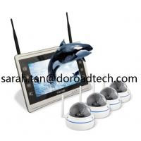 Quality 4CH 1080P WIFI IP Dome Cameras NVR Kit WiFi Camera with HD LCD Screen Display NVR wholesale