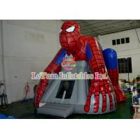 China Spiderman Inflatable Bouncer Jumping / Blow Up Bounce House For Children Play on sale