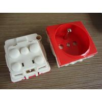 Quality France Electric Power Sockets , French Electrical Outlet With Two Round Pin wholesale