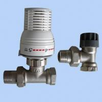 Quality Straight/Angle Radiators Valve with Thermostatic Head and Copper/Pex/Multilayer Pipe Connection wholesale