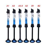 China 5Pcs Dental Light Curing Composite Resin Refill Syringe Dentex A1 A2 A3 A3.5 B1 B2 for sale