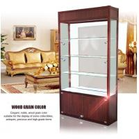 Quality Brown Wood Jewelry Display Cases , Glass Jewelry Display Case Color Stable Non Fade wholesale