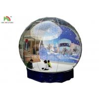 Quality Human Size Inflatable Snow Ball Clear 0.8 mm PVC  Globe Photo Taking EN14960 wholesale