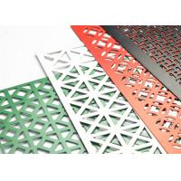 China Powder Coated Decorative Perforated Metal Extremely Versatile Large Open Area on sale